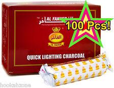 100 Pcs Al Fakher 40 mm Quick Lighting Hookah shisha Charcoal Coal 10 Rolls