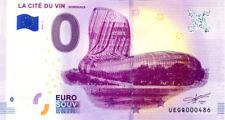 33 BORDEAUX La Cité du Vin 2, N° de la 5ème liasse, 2018, Billet 0 € Souvenir