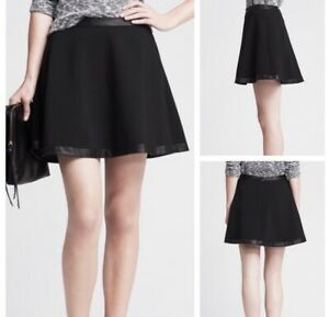 banana republic Leather Trim Aline Skirt 8. NWT Originally $89.99