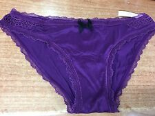 BNWT Victoria's Secret purple lace Small cotton cheekini panties/pants/knickers