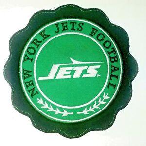 "New York Jeys Football Jacket Jersey Sew On Patch 7"" Round NFL NEW"