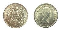 1967 BRITISH 2 SHILLING/FLORIN COIN. Tudor Rose/Young Queen Elizabeth II👑BRIGHT