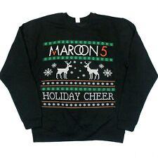 "Maroon 5 ""Holiday Cheer"" Tacky Ugly Christmas Sweater Sweatshirt - Black - 2Xl"
