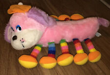 MTY International CO VINTAGE Centipede Plush Stuffed Animal Pink Primary Colors