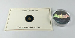 2006 Canada $20 PENGROWTH SADDLEDOME CANADIAN ARCHITECTURE Silver Coin & CoA