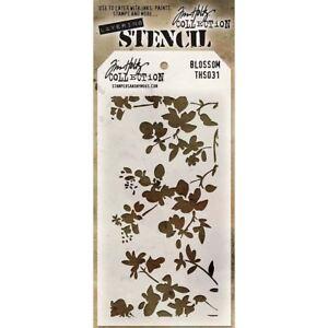 TH - Layered Stencil 4.125in x 8.5in. - Blossom