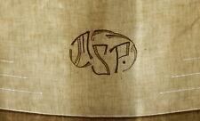"""DRAP ANCIEN   CHIFFRE BRODE """" M.S.P.. """"  / REF DMSP224"""