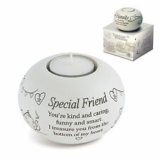 Said with Sentiment Special Friend Tealight Candle Holder