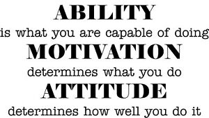 Inspirational quote ability motivation attitude vinyl wall sticker