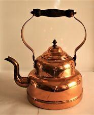 Wikra Wilhelm Kraas Kupferkessel m. Holzgriff - Wasserkessel Kupfer - Teekessel
