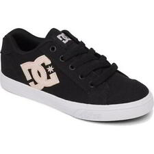 DC Chelsea Kids Womens Ladies Black Skate Shoes Trainers Size Adults UK 3-6