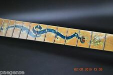 New Maple Guitar Neck with Beautiful Dragon Inlay 24 Fret Maple Fret Board