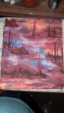 Vintage Cotton Fabric-Hi-Fashion BEAUTIFUL DESERT SCENE PRINT-piece #2