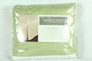 Charter Club Damask Stripe 500 Thread Count Full Bedskirt Palmetto Green U412
