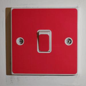 Red Light Switch Sticker - Bedroom / Garage / Shed