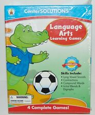 Center Solutions Language Arts Learning Game Grade 1 New Sealed Home School Edu