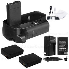 Battery Grip for Canon EOS Rebel T3 T5 + 2X LP-E10 Batteries + AC/DC Charger Kit