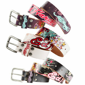 Ed Hardy EH3213 Floral Tigers Kids-Girls Leather Belt