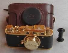 Leica II D Luftwaffe copy gold in leather case (FED Zorki copy)