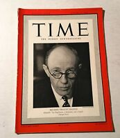 Vintage Time Magazine January 15 1940 Back Issue Britain's Viscount Halifax WWII
