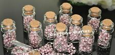 12 X Recuerdos De Bautizo Baby Shower Favors Quinceanera Pink Rosary in Bottle