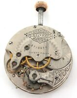 RARE ONLY 18,800 MADE / c1888 WALTHAM ROYAL 1S 13J POCKET WATCH MOVEMENT & DIAL.