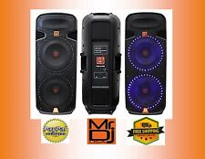 "DUAL15"" 2-WAY PROFESSIONAL DJ-PA SPEAKER WITH LED LIGHTS PASSIVE 5000w"