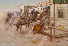 Charles Marion Russell – In Without Knocking Giclee Canvas Print