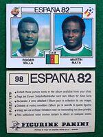 ESPANA 82 1982 n 98 CAMEROUN MILLA MAYA , Figurina Sticker Calciatori Panini NEW