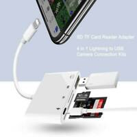 Lightning to USB Camera SD TF Card Reader Adapter For iPhone 6 7 8 X iPod iPad