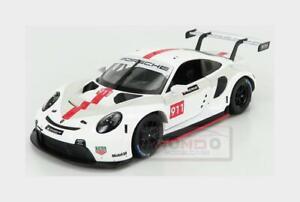 Porsche 911 991 Rsr #911 Coupe 2019 White BURAGO 1:24 BU28013 MMC