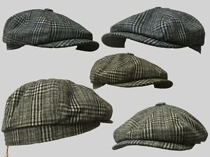 Tommy,Shelby BAKERBOY,NEWSBOY,PEAKY BLINDER FLAT CAP 1920S CABBIE CHEESE CUTTER