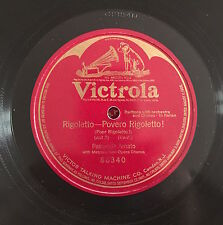 "RARE 78RPM 12"" ONE SIDE VICTROLA VICTOR TALKING M VERDI RIGOLETTO PASQUALE AMATO"