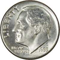 1983 D 10c Roosevelt Dime US Coin BU Uncirculated Mint State