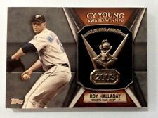 2013 Topps Roy Halladay Commemorative Cy Young Award Trophy Card !!  BLUE JAYS
