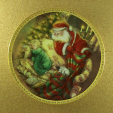 Not A Creature Was Stirring Plate A Lisi Martin Christmas Santa Holidays Puppy