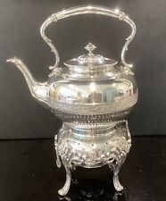 More details for antique silver plated spirit kettle by james dixon superb piece tilt & pour