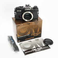 Olympus OM-4Ti Black 35mm Film Camera Body Complete – Boxed w Instructions