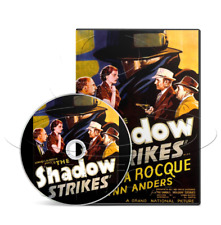 The Shadow strikes Rod LaRoque cult movie poster print