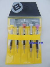 Bergeon 6899-p05 Set of 5 Watchmakers Ergonomic Screwdrivers Swiss Tools