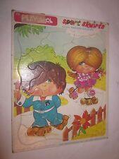 1981 Vintage Puzzle Sport Skwirts Roxie Roller Rickie Rink Playskool #172