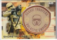 2017 Star Wars Rogue One Series Two Patches #16 Shoretrooper/Shoretrooper