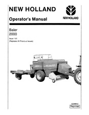 NEW HOLLAND 2000 LARGE RECTANGULAR BALER OPERATORS MANUAL