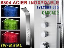 839L Système LED ACIER INOXYDABLE Panneau colonne de douche , CASCADE , 2xJet