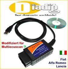 Interface autodia para FIAT Alfa Romeo Lancia OBD 2 diagnóstico escáner obd2 tester