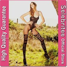 Sheer Bodystocking Open Crotch in Teddy and Stocking Design Selebritee C126