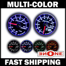 52mm Smoked Lens 4 LED color Boost & Air / Fuel Ratio Gauges Gauge Combo
