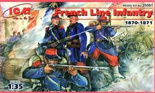 Infantry de ligne english/french line infantry 1870-71 1/35 icm! rare!