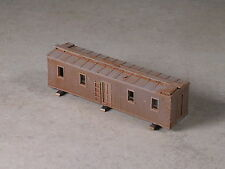 N Scale Assembled Logging Camp Mess Hall car w/ Micro Trains trucks & couplers