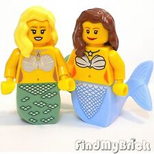 M546 Lego Two Custom Female Mermaid / Merman Minifigures - Lot of 2 - B&G NEW